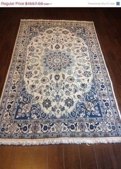 Item 2303,  Classy Nain Persian Rug, 3'11 x 6'9