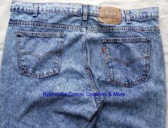 Vtg Men's Levi's Acid Wash 505 Blue Jeans 42 x 32 Orange tab Made in USA EUC #Levis #ClassicStraightLeg
