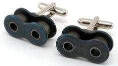 Motorcycle Chain Gunmetal Cufflinks  by qacreate on Etsy, $40.00