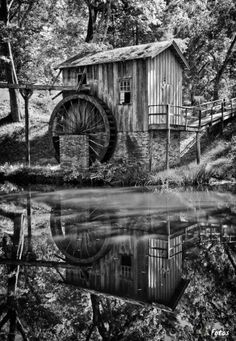 Water Wheel by Michelle Morris Denniston on Perfect picture Location? – Photography, Landscape photography, Photography tips Old Grist Mill, Water Powers, Water Mill, Saint Martin, Old Barns, Le Moulin, Covered Bridges, Old Buildings, Abandoned Places