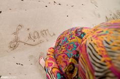 cute! We could also have mom & dad sitting in sand and write addition in the sand...
