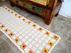 Tapete florido - Com gráfico - Croche.com.br