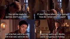 Merlin- Arthur and Merlin ---> This is such a great conversation! I can totally hear their voices in my head :)