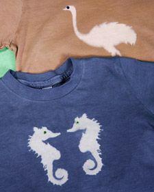 Resist Dyeing T-Shirts (via Martha Stewart)