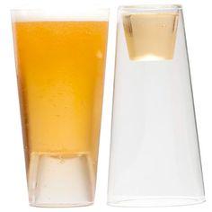 Beer Shot Light 16 oz. Glass