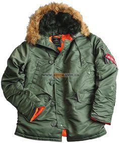 Куртка аляска N-3B Slim Fit Parka Alpha Industries (оливкова)  Розміри: XS,S,M,L,XL,2XL,3XL,4XL,5XL  Ціна: 223 $