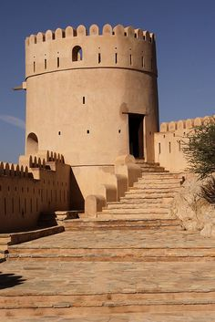 Nakhal Fort is one of the most prominate historical monuments in The Sultanate of Oman. by Retlaw Snellac Monumental Architecture, Islamic Architecture, Landscape Architecture, Places Around The World, Around The Worlds, Sultan Qaboos, Sultanate Of Oman, Arabian Peninsula, Arabian Sea