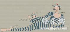 Gallery.ru / Фото #89 - Rue du port - natalytretyak Cross Stitch Designs, Cross Stitch Patterns, Cross Stitching, Cross Stitch Embroidery, Rue Du Port, Stitches Wow, Cross Stitch Sea, Le Point, Sewing