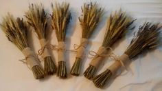 Six Wheat And Lavender Bouquets Dried   by RusticCountryWedding, $120.00
