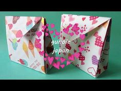 origami mini bag 折り紙ミニバッグの折り方 - YouTube