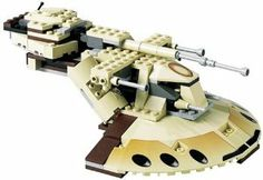 LEGO Star Wars Trade Federation AAT (7155) by LEGO. $184.99. Contains 158 pieces, for ages 7-12. Rotate the turret to aim the primary cannon!. Open the hatch to seat the pilot battle droid!. Includes two battle droid minifigures!. Amazon.com                Seen flying low over the Naboo tundra, the Armored Attack Tank  is considered one of the Trade Federation's deadliest assault vehicles.  Outfitted with six energy-shell launchers and five laser guns  (featuri...