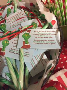 Favors for grinch 2015 cookie exchange