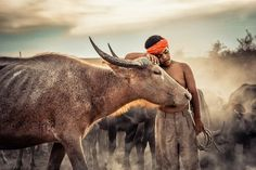 Little Boy with his buffalo friendship Photo by Maturot Kongdee — National Geographic Your Shot