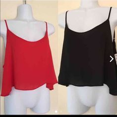 Two forever 21 crop tops Never used. Super cute with high waisted shorts! Fit loose but more of a medium for bust area. Forever 21 Tops Crop Tops