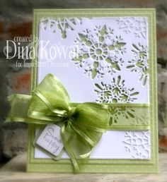 A clean and simple card using the snowflake dies from Impression Obsession.