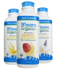 If you want a powerful protein punch after your next workout, look no further than B'More Organic. The certified-organic smoothies contain skyr, an Icelandic yogurt made from skim milk that's rich in protein, which aids in muscle growth and recovery. It's also sweetened with stevia, a natural, zero-calorie sugar alternative.