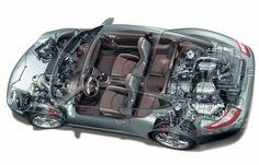 Conhece os desenhos técnicos das várias gerações do Porsche 911