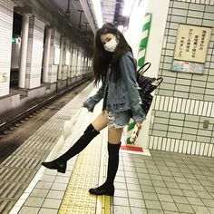 Cool Asian Girl in Mask Korean Ulzzang, Korean Girl, Asian Girl, Girl Outfits, Cute Outfits, Fashion Outfits, Ulzzang Girl Fashion, Uzzlang Girl, Tumblr Girls