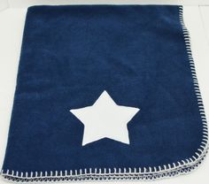 Blankets & Beyond Baby Security Blanket Navy Blue White Star Whip Stitch 30x36 #Blanketsbeyond http://stores.ebay.com/Lost-Loves-Toy-Chest?_dmd=2&_nkw=baby+blanket