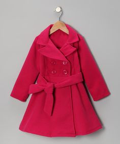 Classic and sophisticated, this coat helps little snow angels coast through the chilly months in style and comfort. With its fashionable double-breasted design and charming sash, it's perfect for everyday wear and special occasions. PolyesterMachine wash; tumble dryMade in the USA