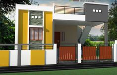 House rustic plans modern Ideas for 2019 House Front Wall Design, Single Floor House Design, Railing Design, Facade Design, Dream House Plans, Small House Plans, Home Building Design, Building A House, Indian House Plans