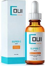 Super C Serum - Best Collagen Skin Care for Face and Eyes a Breakthrough in Anti Aging - With Vitamin C + EGF + Marine Kelp + Hyaluronic Acid - Effective Wrinkle and Acne Scar Treatment