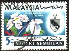Malaya Negri Sembilan 1965 SG 83 Orchids Fine Used Scott 78 Other Asian and British Commonwealth Stamps HERE!