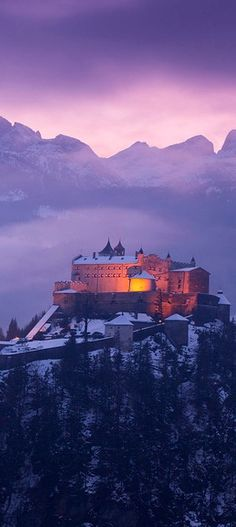 Werfen Castle in Austria Places To Travel, Places To See, Places Around The World, Around The Worlds, Beautiful World, Beautiful Places, Bad Gastein, Wonders Of The World, Cool Photos