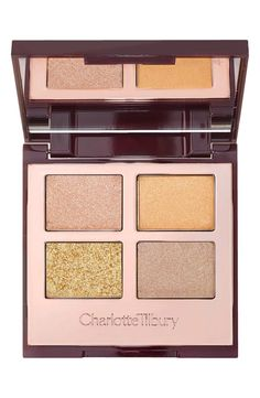 The 'Legendary Muse' luxury palette from Charlotte Tilbury is a dreamy, pretty, flattering combination of champagne golds, Ibizan sunset golds and pale, angelic softer bronzes for all skin tones.