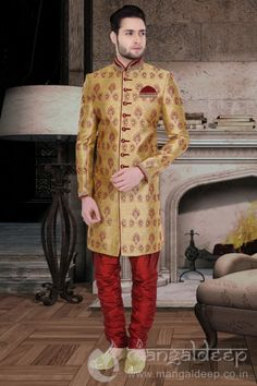 http://www.mangaldeep.co.in/latest-men-wear/fabulos-golden-jacquard-men's-indowestern-sherwani-8230 For more information :- Call us @ +919377222211 (Whatsapp Available) (y) :)