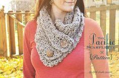 The Pacific Scarflette Crochet Cowl Neckwarmer Pattern