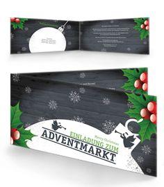 Einladungen mit Falz Seite in der Farbe Grau jetzt online günstig bestellen. #einladungskarte #kartendesign #weihnachten