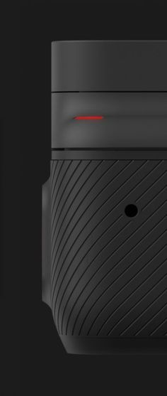 Check this out on leManoosh.com: #Black #Camera #Circle #Color Accent #Electronics #GoPro #Grip #Huge Design #Rendering #Texture