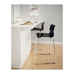"GLENN Bar stool, black, chrome plated - black/chrome plated - 26 "" - IKEA"