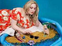 Hayley Hasselhoff has been given a Barbie makeover in a striking new fashion shoot to cele...