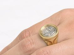 ON SALE Men's Greek Coin Ring Antique coin by BermanDesignersMens