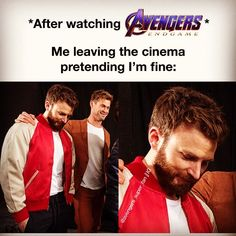But we all know that were not fine.-Comment has been disabled to avoid spoilers… .But we all know that were not fine.-Comment has been disabled to avoid spoilers. Avengers Humor, Marvel Avengers, Avengers Quotes, Avengers Cast, Marvel Funny, Marvel Memes, Marvel Comics, Stucky, Le Cri