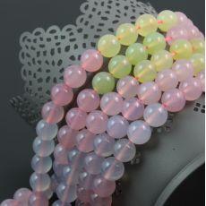 Agat 3 kolory pastelowy kula 10mm [sznur 39cm] Beads, Stone, Beading, Rock, Bead, Stones, Pearls, Seed Beads, Batu