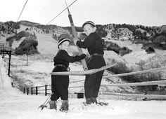 Dickie & Davie, T-Bar | Vintage Ski Photographs