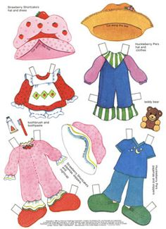 """✄ #Paper dolls.....""""Strawberry Shortcakes Paper Doll Book"""" Page 1"""