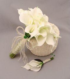 Trouwbloemen voor bruid en bruidegom