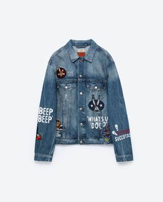 Image 8 of LOONEY TUNES DENIM JACKET from Zara
