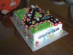 Cake gâteau fondant Mario Kart Mariokart