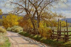 Autumn Shadows by Mark Haworth Oil ~ 20 x 30
