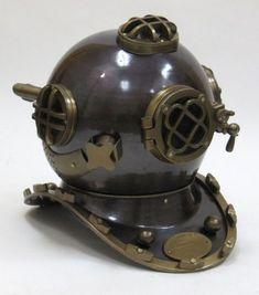 Divers Helmet Mark V Aluminum www.bluebarnacles.com
