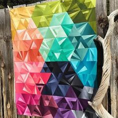 From @vchristenson - Welcome back everyone! Check out this beauty by @deborahdawnt her version of the #tessellationquilt with our #VandCoOmbre