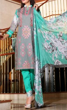 Shop beautifully stitched Cotton Lawn Dresses online and enjoy upto discount - finely stitched with embroidery work contact now at for more details Pakistani Salwar Kameez, Anarkali Suits, Buy Salwar Kameez Online, Makes You Beautiful, Pakistani Outfits, Unique Dresses, Dresses Online, Bridal Dresses, Nadia Hussain