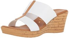 Italian Shoemakers Womens Golden Wedge Sandal - Sandali Donna - Ideas of Sandali Donna White Wedges, Platform Wedge Sandals, Keds, Vince Camuto, Kate Spade, Stuff To Buy, Shoes, Amazon, Fashion