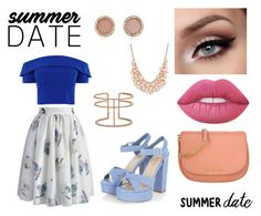 """""""Summer date"""" by boglarka-balogh on Polyvore featuring Chicwish, Michael Kors, Lime Crime, Charter Club and APM Monaco"""