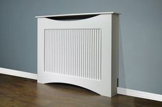 WHITE RADIATOR COVER MEDIUM SLATTED GRILLE LIVING ROOM FURNITURE CURVED CABINET £67.99 plus delivery